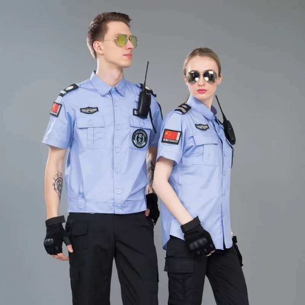 OEM Summer Blue Security Guard Uniform Military Uniform Work Uniform Factory uniform